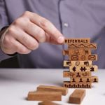 Wooden blocks for referrals