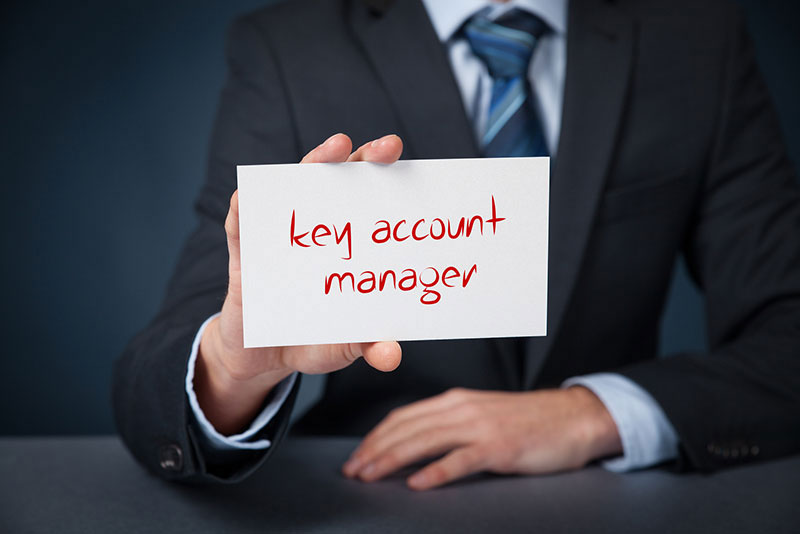 Key account management sign