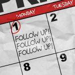 Calendar with follow up