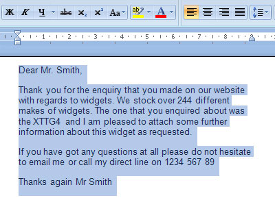 Word screenshoot