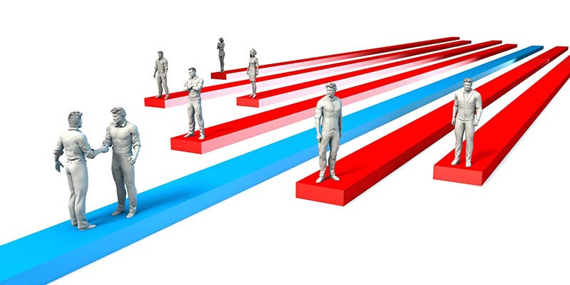 Beat the Competition in the Industry as Strategic Concept 3D Ill