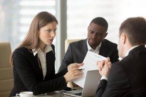 Sales person negotiating price