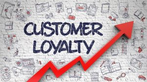 Customer Loyalty Drawn On Brick Wall