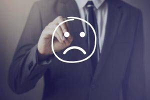 Businessman with unhappy face