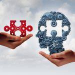 Jigsaw puzzle brain piece