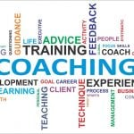 Coaching and training word cloud