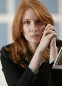 red hair business woman