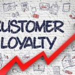 Increasing graph on customer loyalty