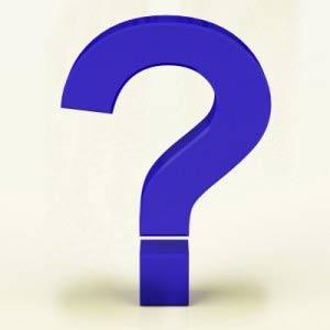 question sign blue