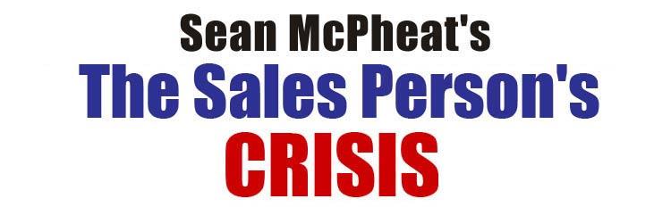 Sales person's crisis header