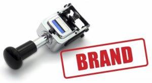 Brand on stamp