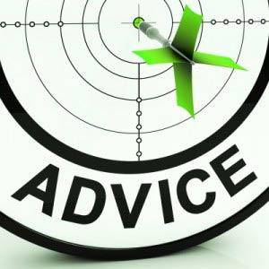 advice arrow in target