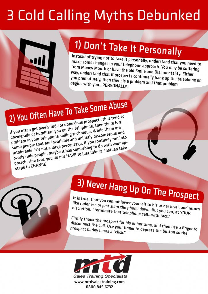3 Cold Calling Myths – Infographic