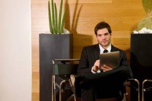 salesman in office