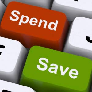 spend and save buttons