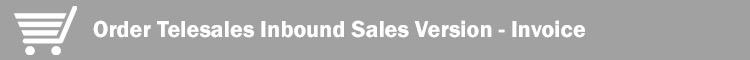 Invoice Inbound Sales