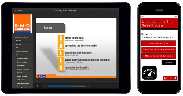RMD website on tablet and phone