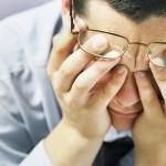 man in frustration