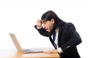 wonder man with laptop