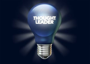 Thought leader on light bulb