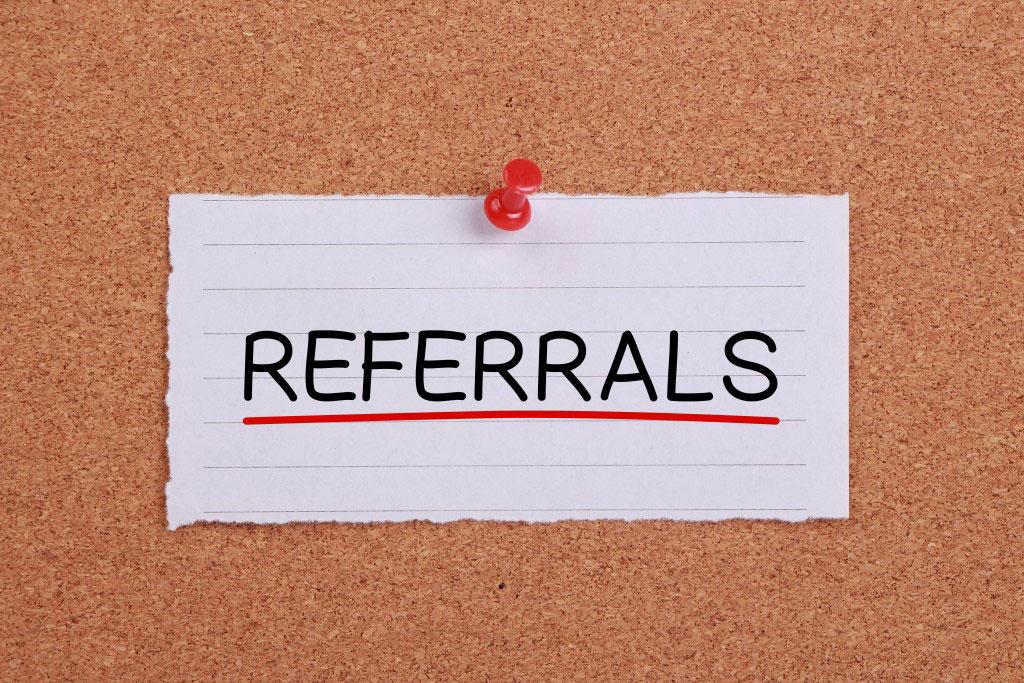Referrals wording