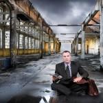 Businessman on floor
