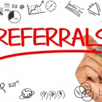 Referrals red word