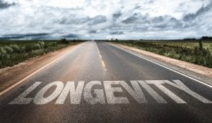 word Longevity on road