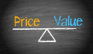 Price and value on weigher
