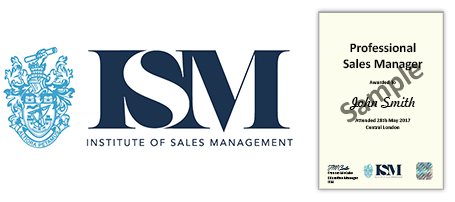 Professional Sales Manager Certificate