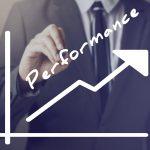 Businessman Writing Increasing Performance