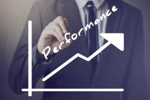 Businessman Writing Increasing Performance