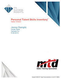 Personal Skills Report Cover