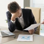 Businessman in frustration