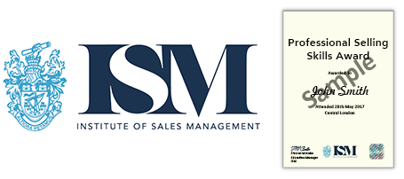 ISM Pro Selling skills certificate