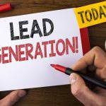 lead generation written on a notepad