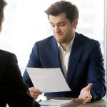 Businessman not happy with contract