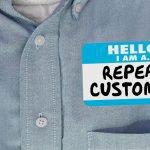 Repeat customer name tag