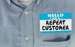 Repeat customer name tag
