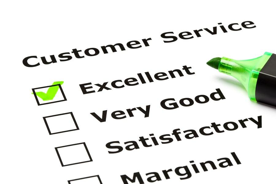 Customer service survey list