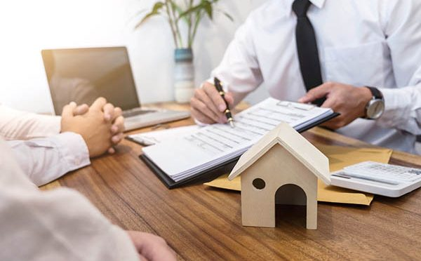 Business Signing A Contract Buy - Sell House, Insurance Agent