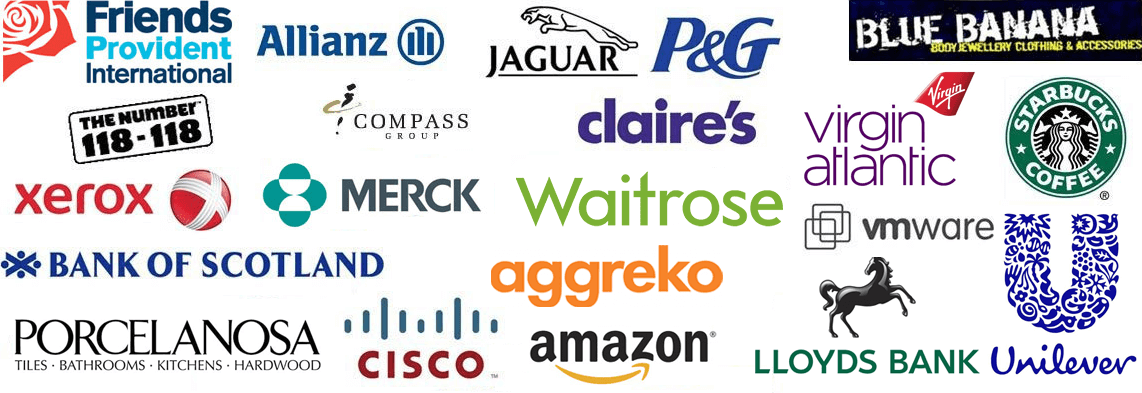 Logo list of our clients who have used us for online demo sales training courses