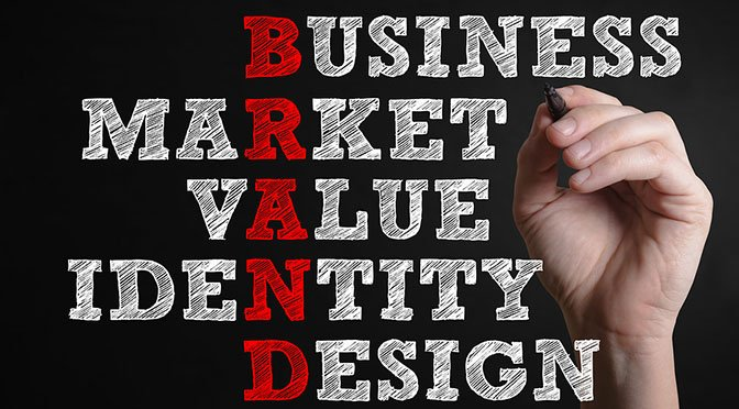 Business Market Value Identity Design. Brand advertising marketing strategy identity business concept