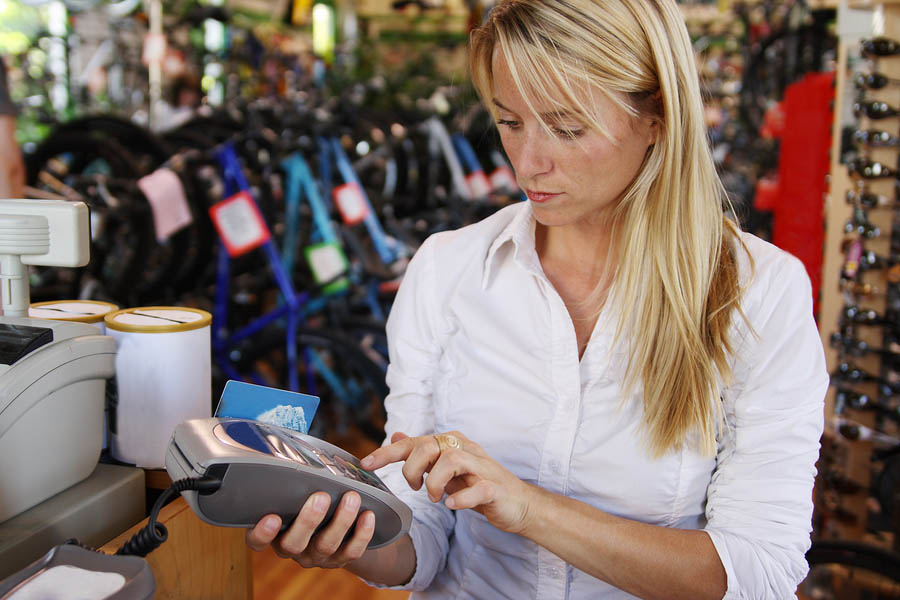 Woman Making Debit Payment