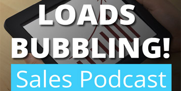 Sales podcast loads bubbling