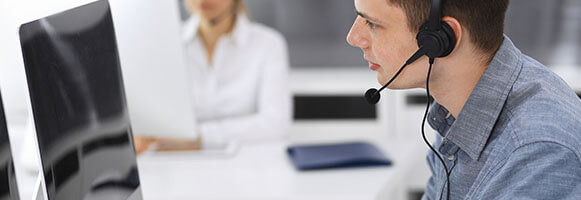 sales rep selling directly over the telephone