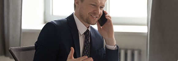 sales person making telephone calls
